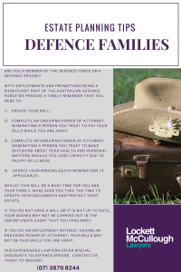 Estate Planning Tips - Defence Families